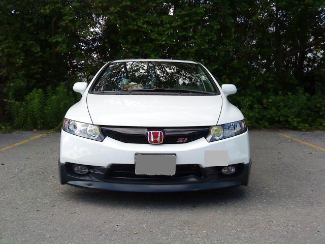 Honda Civic Si Sedan Mugen. 09 mugen si front lip on car
