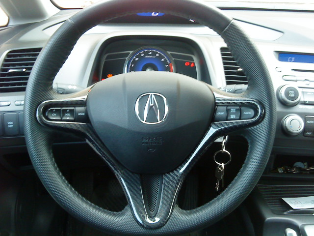 Carbon Fibre Steering Wheel Cover And Rear View Mirror For Honda - Acura steering wheel cover