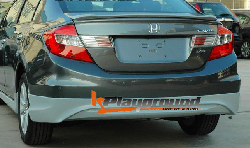 9TH GEN modulo rear Kplayground Full Body Kit for 2012 Civic Sedan now Available!