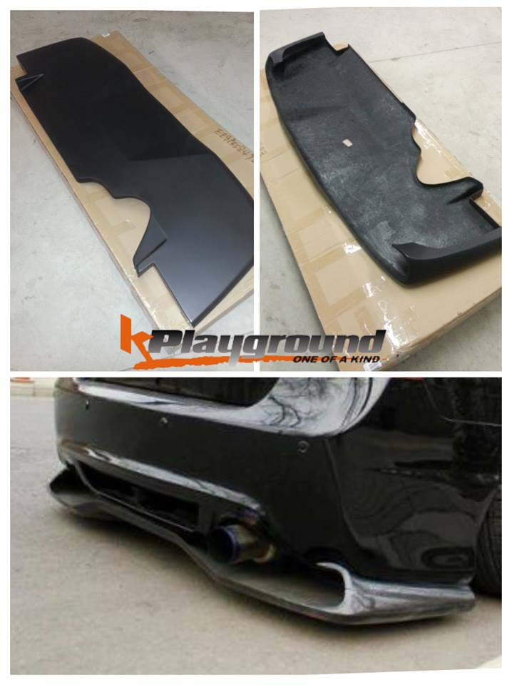 V style diffuser with logo NEW PRODUCT: Kplayground V Type Rear Diffuser Now available!