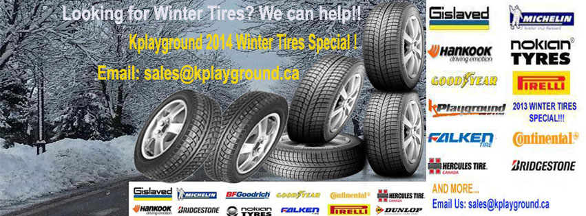 facebook 2014 winter tires banner SAVE NOW! Kplayground 2014 2015 Winter Tires Special Now Available!!!