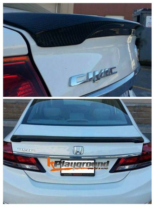 KPG Hspec Carbon Rear Trunk Spoiler