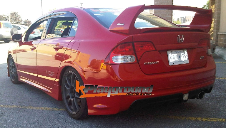 Mugen RR Style Rear Lip Version 2 with 43+LED Brake Light Pad