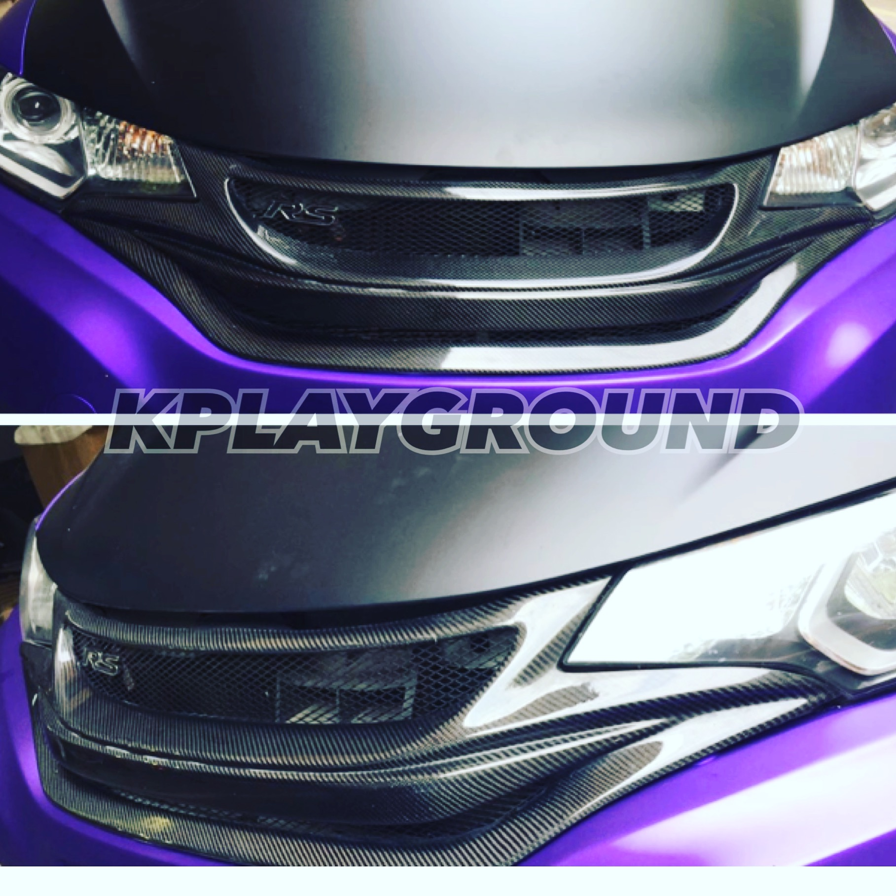 2015+ Honda Fit Carbon Front Grill