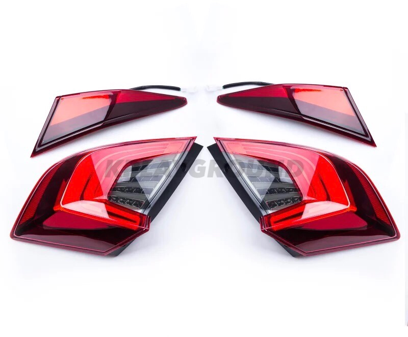 OEM style LED Taillights for a Sedan Model 2016+ Honda Civic 4dr