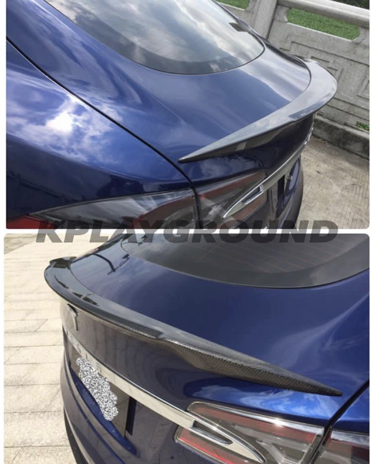 KPG Tesla Model S Carbon Trunk Spoiler