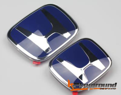 06-11 & 2012+ Civic Coupe/Sedan JDM Style Blue H Rear  Emblem