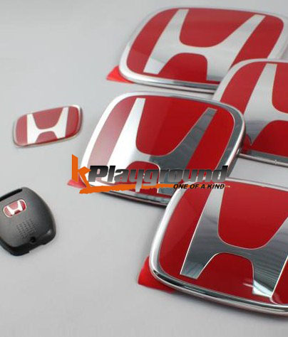 06-11 Civic Red H Front Emblem for JDM Conversion