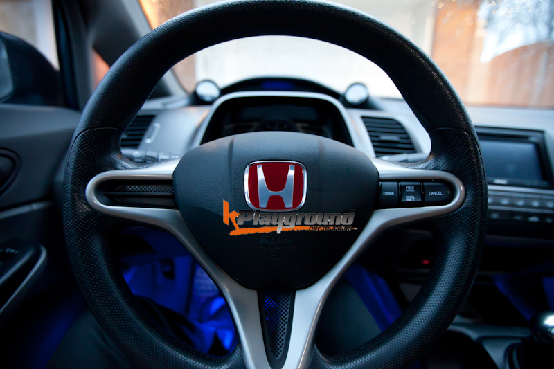 Red H Steering Wheel Emblem