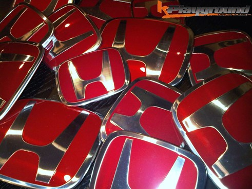 03 to 07 Honda Accord JDM Style Red H Front Emblem