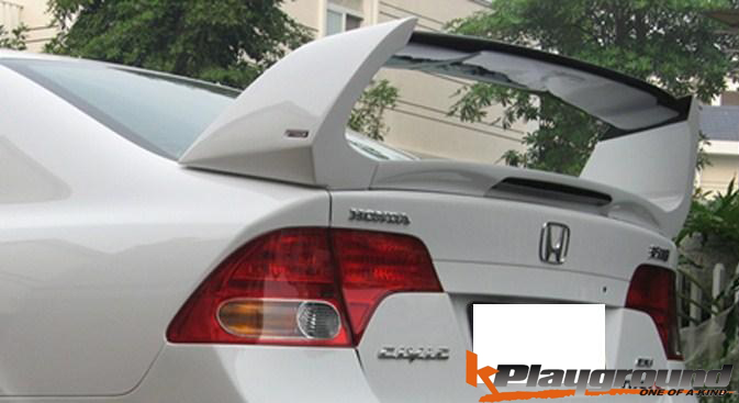 Mugen Si style spoiler CF top piece with 3rd brake light
