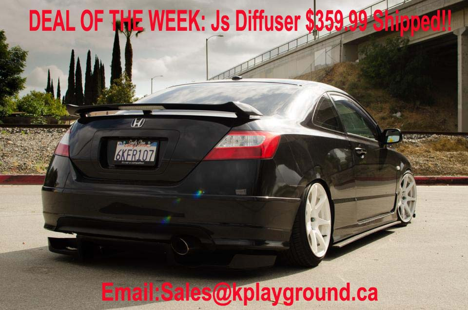 DEAL OF THE WEEK ~ Js Rear Diffuser $359.99 SHIPPED!